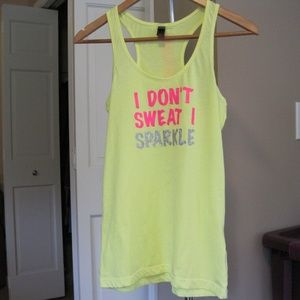 I Don't Sweat I Sparkle Tank Small DISTRICT